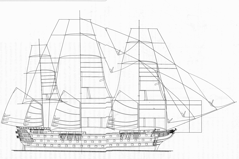 Чертеж корабля двенадцать апостолов
